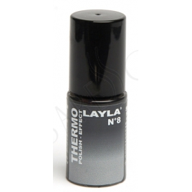 Nagellack Layla Thermo Colour 08- BLACK TO GREY