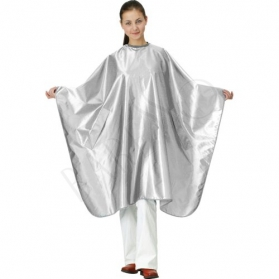 Satin cape. white