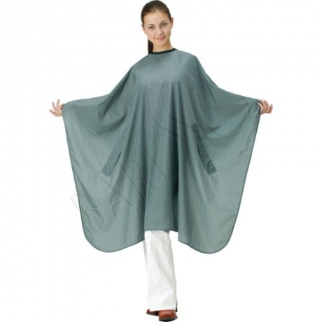 Crinkle cape. grey