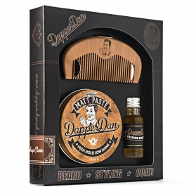 Dapper Dan Gift Set (15ml Beard Oil, Matte Paste 100ml)