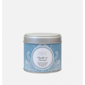 Shearer Candles Large Tin Vanilla & Coconut 40h
