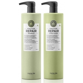 Maria Nila Structure Repair Shampoo + Conditioner 1000ml