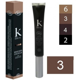 K Pour Karité Organic Hair Mascara - 3 Dark brown