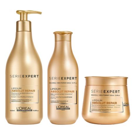 L'Oréal Professionnel Serie Expert Absolut Repair Shampoo,Balsam och Masque