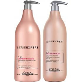 L'Oréal Professionnel Serie Expert Vitamino Color shampo och balsam XXL