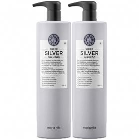 Maria Nila Palett Sheer Silver Shampoo+Balsam 1000ml