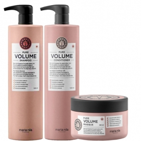 Maria Nila Pure Volume Shampoo + Conditioner 1000ml & Masque 250ml