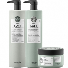 Maria Nila True Soft Colour Shampoo + Conditioner 1000ml & Masque 250ml