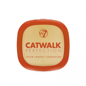 W7 Catwalk Perfection Cream Compact Foundation 6g - Beige