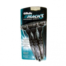 Gillette Mach3 Disposable Razors 3's