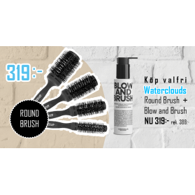 Waterclouds Black Brush + Blow and Brush
