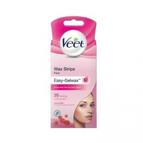 Veet Wax Strips Face Easy Gel-Wax 20 st