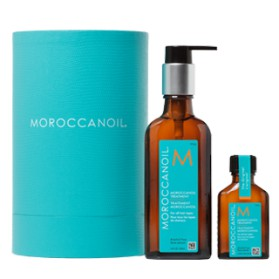 Moroccanoil Cylinder Original Blue Duo