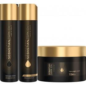 Sebastian Professional Dark Oil Lightweight Hair Trio