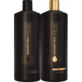 Sebastian Professional Dark Oil Lightweight Hair Duo