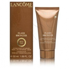Lancome Flash Bronzer Self Tan Custom Color Tinted Self-Tanning Face Lotion